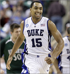 Duke's Gerald Henderson helped Duke win the ACC tournament title and advance to the Sweet 16 in his junior season.