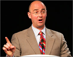 TV analyst Pierre McGuire, who is typically shown from a position between the two benches, is a candidate for the Minnesota Wild's general manager position.