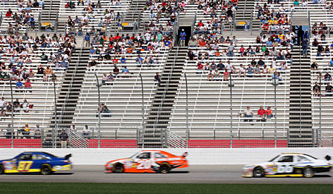 Attendance at tracks on NASCAR's Cup Series schedule, such as Atlanta Motor Speedway, have played host to less-than-capacity crowds this season.
