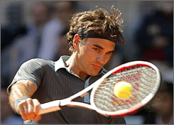 Roger Federer, above, beat Rafael Nadal in the final of the Madrid Open on Sunday.