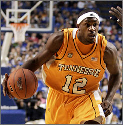 Ramar Smith, above, averaged 7.4 points and 3.2 assists during the 2007-08 season before being dismissed by Tennessee coach Bruce Pearl.