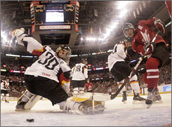 Evander Kane, shown scoring a goal for Canada at the world junior hockey championships in December, should have a great NHL career, but may not have the makings of a captain, says Kyle Woodlief of Red Line Report.