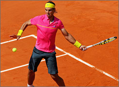 Rafael Nadal continued his winning ways at the French Open with the first-round defeat of Marco Daniel.