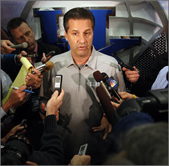 John Calipari says he has not been accused of violations during the NCAA investigation of Memphis.