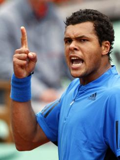 Jo-Wilfried Tsonga is one of seven Frenchmen left in the final 32 at the French Open, the most of any country.