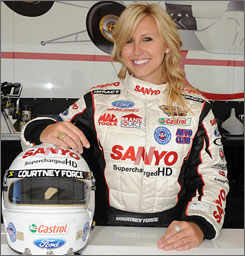 Courtney Force, 20, will have a faster summer job than most during her second season in the Top Alcohol Dragster division.