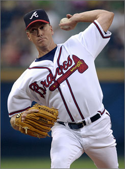 Tom Glavine, 43, is the winningest active pitcher with 305 victories but has only made one major league start since last June before the Braves released him Wednesday