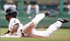 The Pirates' Andrew McCutchen went 2-for-4 with three runs, a walk, an RBI and a stolen base in his Major League debut.