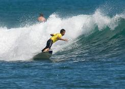Kainoa Haas, 17, a surfer from Honolulu, placed third at the Hard Rock Cafe State Surfing Championships at Oahu's Ala Moana Bowls June 4-7.