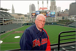 Former Indians owner Richard Jacobs, at his namesake ballpark in 1995.