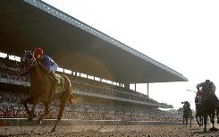 Summer Bird runs to a comfortable win Saturday in the Belmont Stakes.