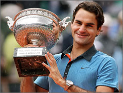 After taking his turn holding the French Open trophy on Sunday, Roger Federer joined an exclusive club in winning all four Grand Slam championships. But did the victory make him the greatest tennis player of all time?