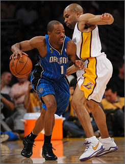In two Finals games, Magic point guard Rafer Alston is 3-for-17 from the field.