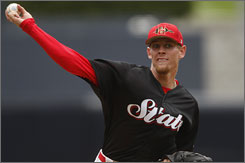 Stephen Strasburg plans to relax over the summer and 'take my game to the next level.'
