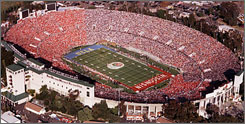 The Rose Bowl in Pasadena, Calif., on Jan. 1, 1999. Fans will have to find their ESPN channel to watch the game starting in 2011.