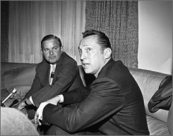 Bills owner Ralph Wilson, left, named Raiders then-coach Al Davis, now the team's owner, as the AFL's commissioner in 1966, before the start-up league merged with the NFL.