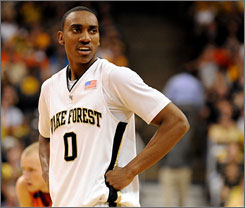 Jeff Teague will keep his name in the NBA draft and won't return to Wake Forest, coach Dino Gaudio said Monday.