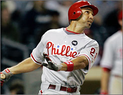 Phillies outfielder Raul Ibanez has been a major part of many fantasy teams' success so far this season. NL LABR leader Derek Carty drafted him for a bargain price of $23.