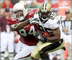 Reggie Bush has rushed for 1,550 yards in three seasons in New Orleans.
