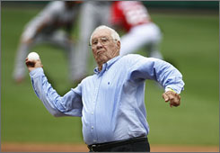 Major League Hall of Famer Bob Feller, 90, is scheduled to start in the legends game on Sunday.