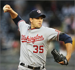 Starting pitcher Craig Stammen earned his first major league victory as the Nationals shut out the Yankees 3-0 in the first game without a homer at the new Yankee Stadium.