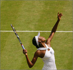 """""""When she (Venus) talks about Wimbledon, the tenor of her voice changes,"""" says Billie Jean King of the elder Williams sister. """"It connects with her. ... This is her place."""""""
