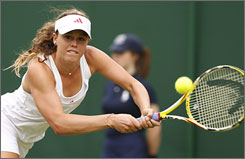 After a noisy trip to the French Open, Michelle Larcher de Brito toned down her shrieks in her first-round win over Klara Zakopalova at Wimbledon. The 16-year-old said her volume is determined by the intensity of the match.