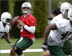 Rookie Mark Sanchez is the Jets' highest draft pick at quarterback since Joe Namath in 1965. Sanchez will compete for the Jets' starting QB position this season.