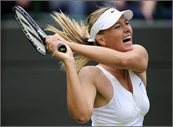 Maria Sharapova, an established star on the WTA tour, isn't questioned by reporters about her loud shrieks after matches at Wimbledon. But Portuguese teen Michelle Larcher de Brito hasn't been so lucky.