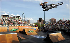 Daniel Dhers, seen competing in the 2008 Dew Tour BMX Park Finals in Orlando, says the Olympics has helped legitimize BMX as a sport.