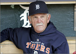 Detroit manager Jim Leyland likes what he sees from the Tigers dugout lately.