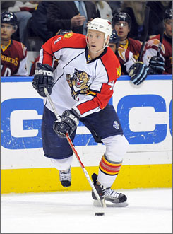 Jay Bouwmeester, one the verge of becoming a free agent, has been traded from the Florida Panthers to the Calgary Flames. The Flames have until July 1 to sign him before he goes on the open market.