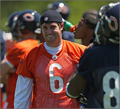 Bears QB Jay Cutler will carry a lot of expectations when he leads the team in 2009.