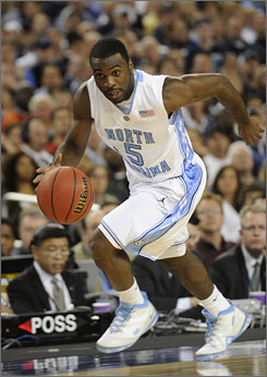 The Nuggets are high on speedy North Carolina guard Ty Lawson, whom the team acquired in a trade with the Timberwolves.