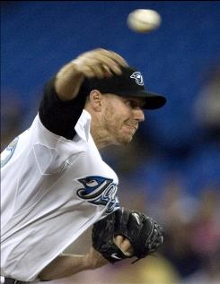 The Blue Jays'     Roy Halladay returned from the 15-day disabled list to start against Tampa Bay. Halladay's record would fall to 10-2 after allowing two runs in the third inning.