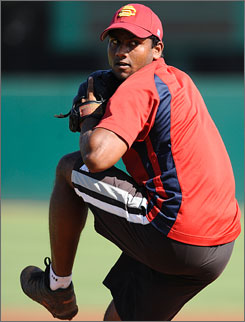 India-born pitchers Dinesh Patel (above) and Rinku Singh are likely to make their pro debuts this week for the Bradenton Pirates of the rookie-level Gulf Coast League.