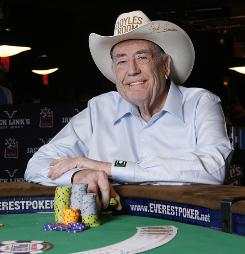 Doyle Brunson has played a lot of poker over 50 years.