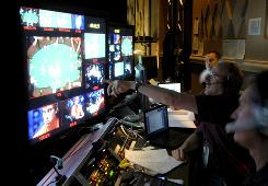 The ESPN control room during the 2008 World Series of Poker.