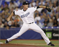 Pitcher Scott Richmond was ready to start another career until the Blue Jays took a chance on him. He has responded with a 6-5 record this season.
