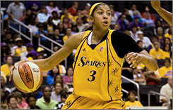 Candace Parker missed the first eight games of the Sparks season while on maternity leave.