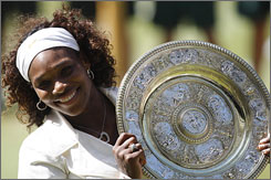 Serena Williams defeated her sister to win Wimbledon on Saturday.
