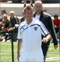 David Beckham took exception to L.A. Galaxy teammate Landon Donovan's comments in a new book about the England captain's first two years in MLS.