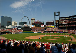 St. Louis's Busch Stadium will host MLB's All-Star game on Tuesday.