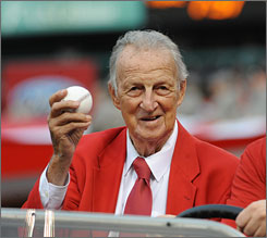 Cardinals legend Stan Musial, 88, played for the Cardinals from 1941-63, was selected to 24 All-Star teams and was sixth on the all-time home run list with 475 home runs at the time of his retirement.