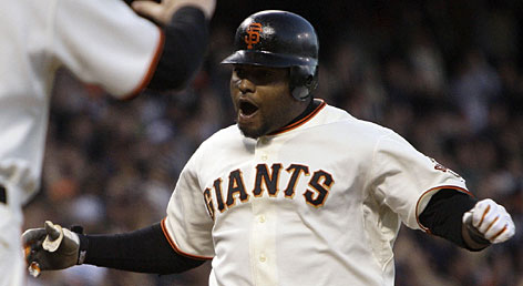 His fun-loving personality and hitting prowess (.333 average, 15 home runs, 55 RBI) have made Giants third baseman Pablo Sandoval a teammate and fan favorite.