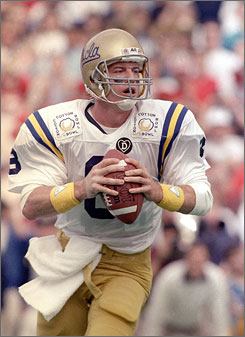 Troy Aikman left UCLA as the school's No. 2 passer and had even greater success in the NFL, where he won three Super Bowls with the Cowboys.
