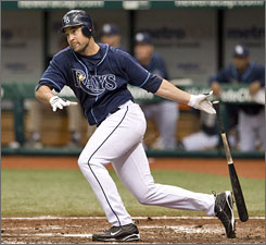 The Rays, third in the AL East, hope Pat Burrell's recent surge extends past the All-Star break after he struggled in the first half. He's hitting .232 with 28 RBI.