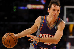 Steve Nash averaged 15.7 points and 9.7 assists per game last season, his fifth in a Suns uniform.