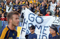 Some fans have taken issue with David Beckham's presence with the L.A. Galaxy.