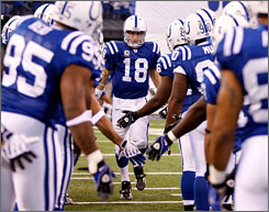 Colts QB Peyton Manning was unhappy after offensive assistants Tom Moore and Howard Mudd left the team earlier this year.